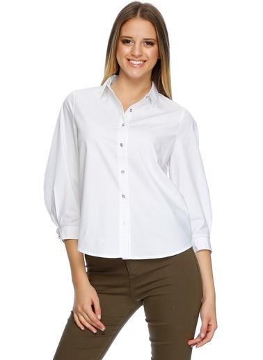 Cubic Gömlek Beyaz